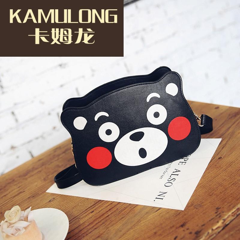 kamulong熊本熊包包斜挎包单肩包mini包可爱女学生软妹表情包创意动漫