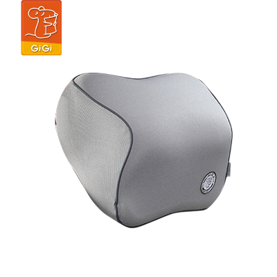 GiGi(吉吉)汽車頭枕 車用護頸枕記憶棉車飾枕頭 新款四季車座椅靠枕正品 灰色