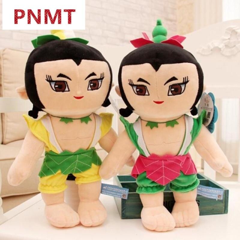 pnmt葫芦娃毛绒玩具公仔创意玩偶抱枕布娃娃儿童生日礼物