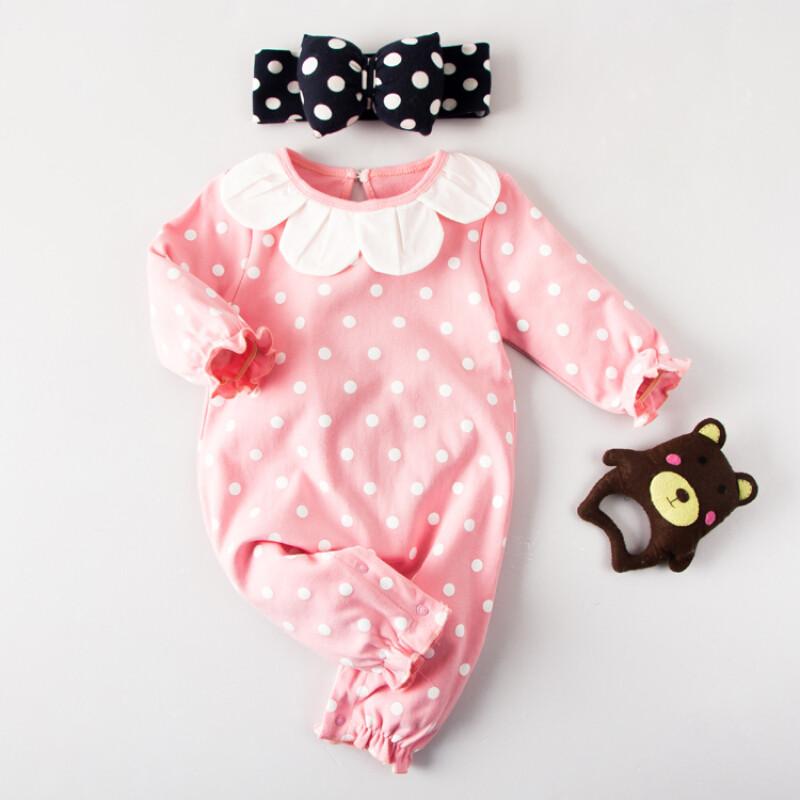春装满月宝宝新生儿0岁3个月6春秋夏季1哈衣外出服f米白色套头白底我