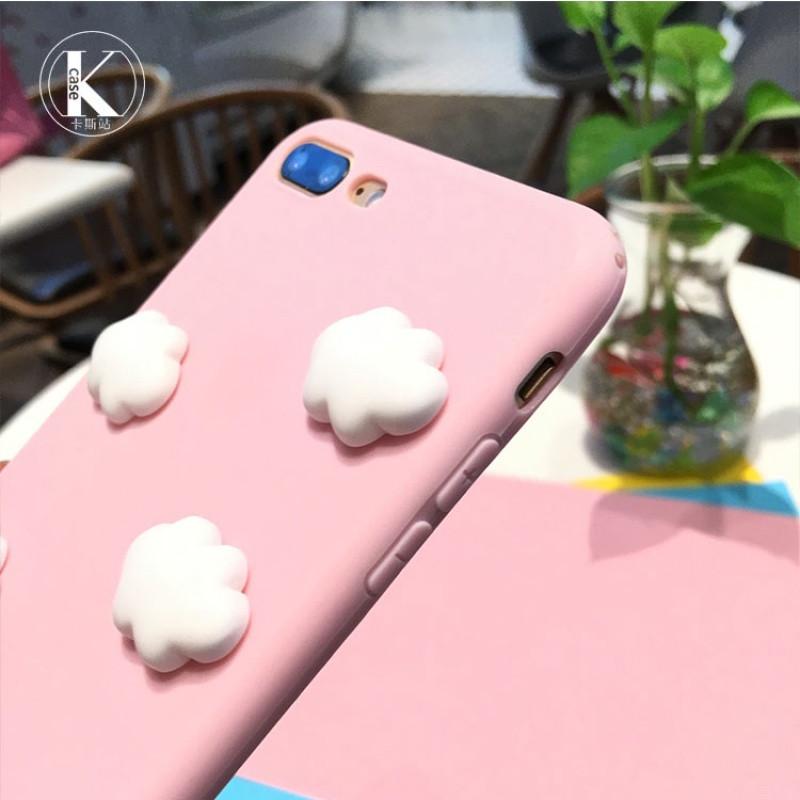 小清新云朵iphone8手机壳可爱粉色苹果6/6s/7/plus硅胶防摔套女款