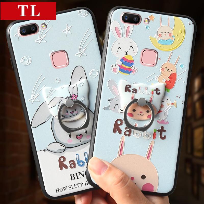 可爱猫咪vivox20浮雕手机壳步步高x20软边防摔壳创意指环支架女款 x20