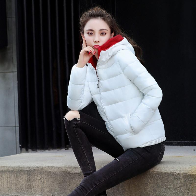 珍真羊 棉衣女短款冬装韩版显瘦羽绒棉服女毛衣领保暖
