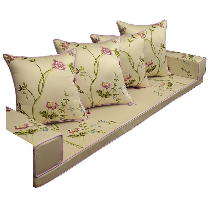 中式红木沙发坐垫实木圈椅靠垫餐椅垫榻榻米海绵座垫夏 60*60(抱枕含图片