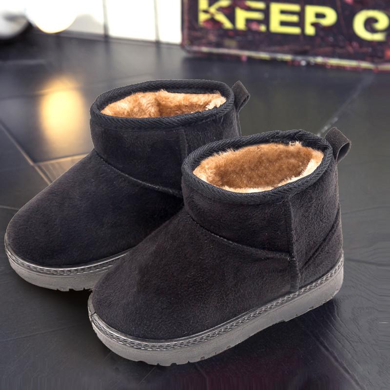 110新款冬季儿童雪地靴2017新款男童女童短靴宝宝靴子