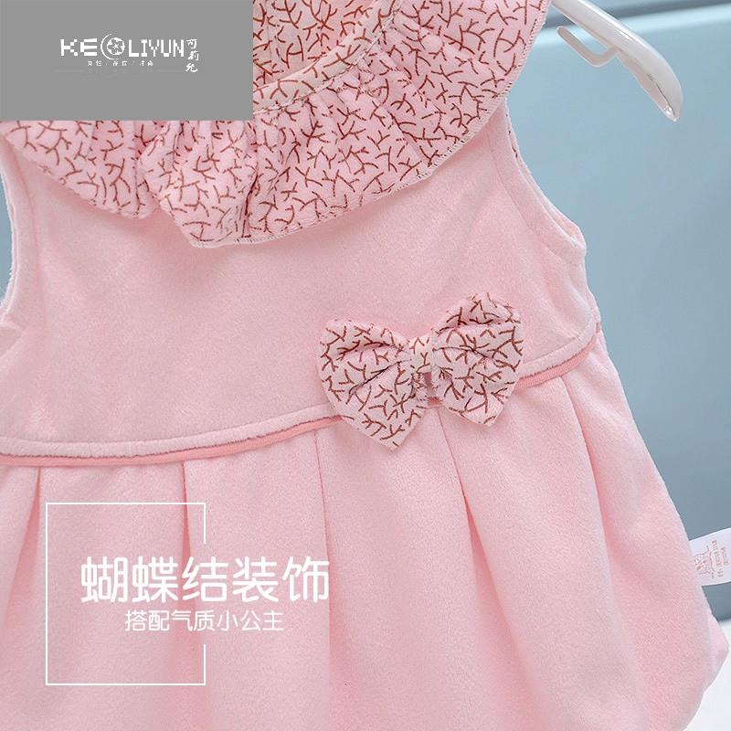 婴儿裙子6个月女宝宝背心裙半岁1岁女童马甲裙春秋装棉3公主裙 衣标66