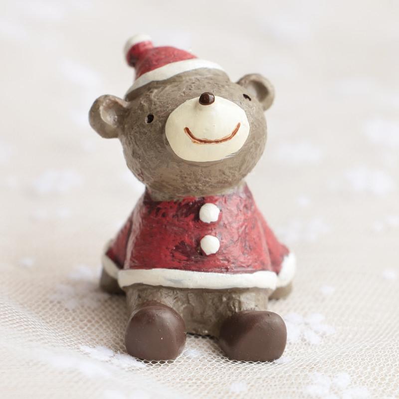 萌物仰望星空圣诞小动物可爱田园日系创意桌面圣诞礼物摆件