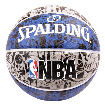 斯伯丁SPALDING籃球通用籃球83-176Y 酷炫涂鴉街頭籃球橡膠材質7號籃球
