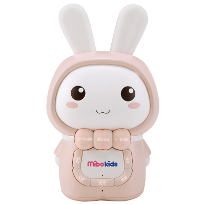 米宝兔(mibokids) 儿童早教故事机 MB02C 哑光粉 宝宝胎教 0-8岁 音乐 益智玩具儿歌播放器婴儿早教机