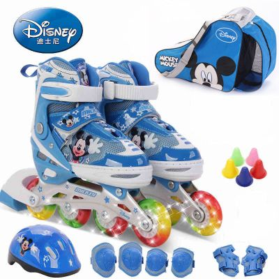 DISNEY/迪士尼溜冰鞋八轮全闪轮滑鞋 儿童旱冰鞋 滑冰鞋 DCY31129-D 迪士尼可调旱冰鞋豪华套装36-39码