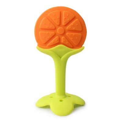 寶倍安(Bao bei an)嬰兒牙膠/安撫奶嘴食品級硅膠牙膠適用于3-6月寶寶YBZ005 水果橙子 帶收納盒