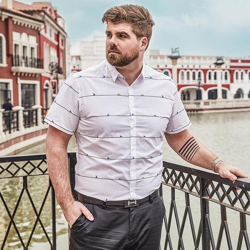 加肥加大男半袖衬衣