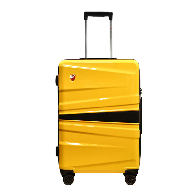 托尼洛·兰博基尼 盾形彩色logo起伏面万向轮旅行箱26