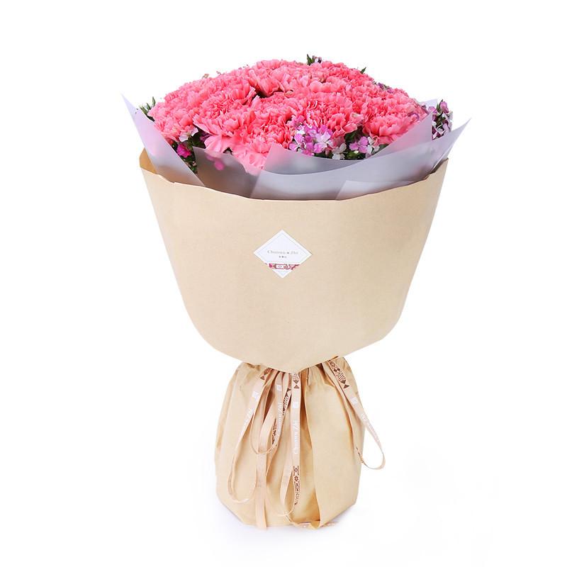 春舞枝33朵粉康乃馨花束鲜花速递