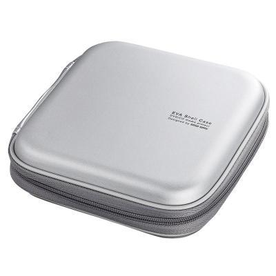 日本山業(Sanwa supply)車載CD包/光盤收納包/汽車用CD盒/24片裝FCD-SH24SV 24片銀白色