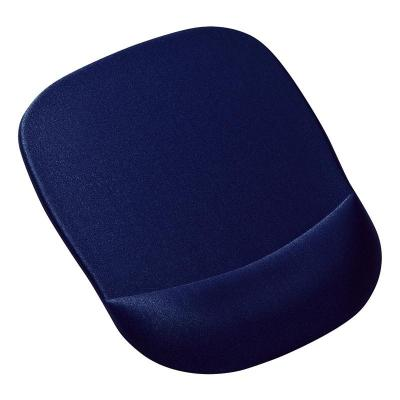 日本山業(Sanwa supply)慢回彈記憶海綿鼠標墊/帶腕托鼠標墊/有效緩解手腕酸痛 MPD-MU1NBL藍色