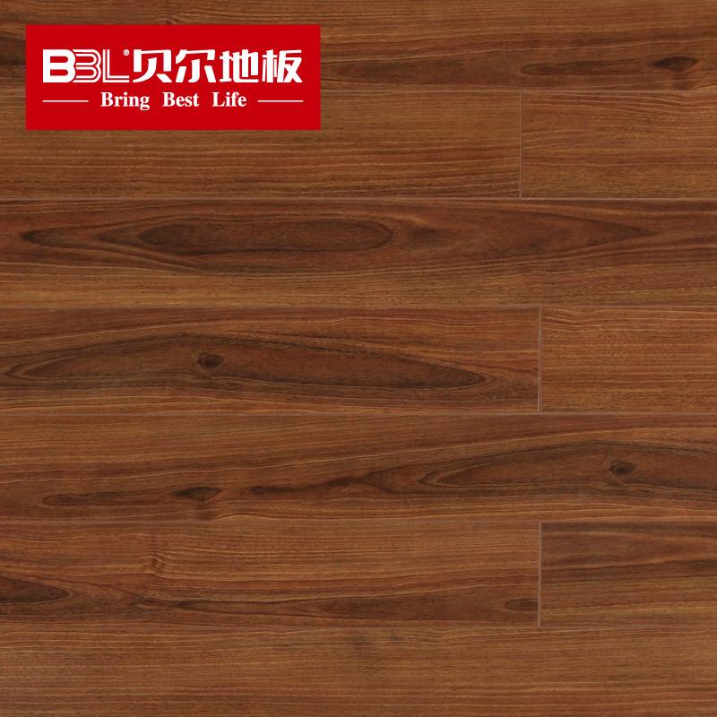 贝尔地板 强化复合木地板 8mm耐磨小浮雕面 家用环保
