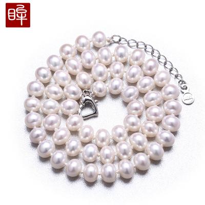 印象眸 大颗珍珠项链饱满亮泽淡水珍珠项链 约8-9mm
