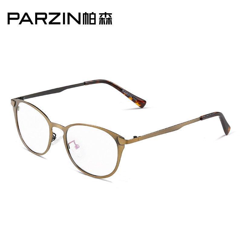 帕森 轻盈全框眼镜男复古金属大框眼镜架女近视眼镜框