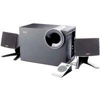 漫步者(EDIFIER)R208PF电脑音箱2.1低音炮音响可插卡/U盘/FM收音机 黑色