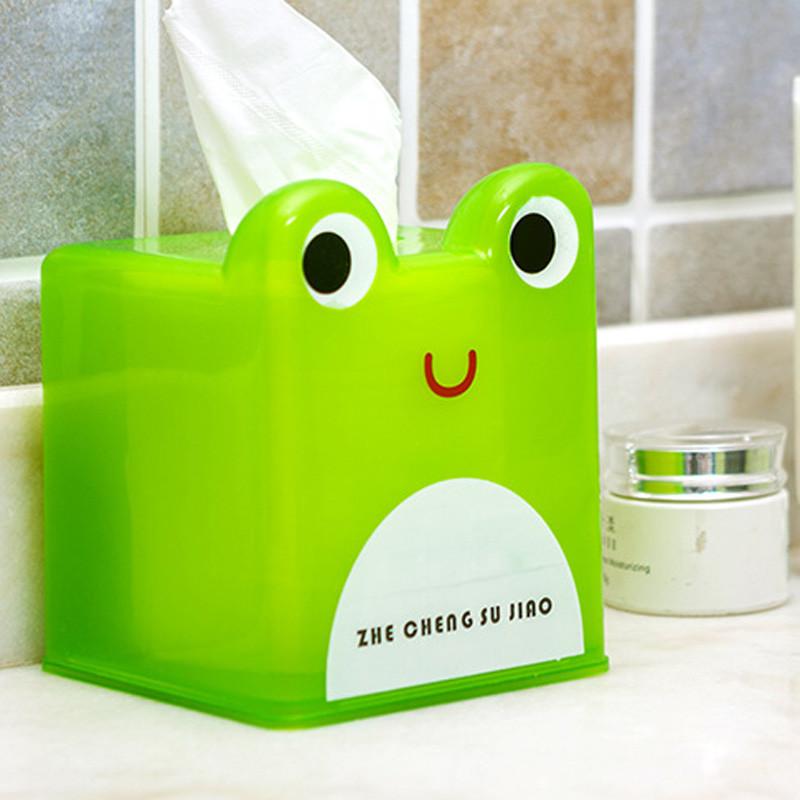 可爱卡通动物纸巾盒 卷纸筒收纳盒 车载抽纸盒
