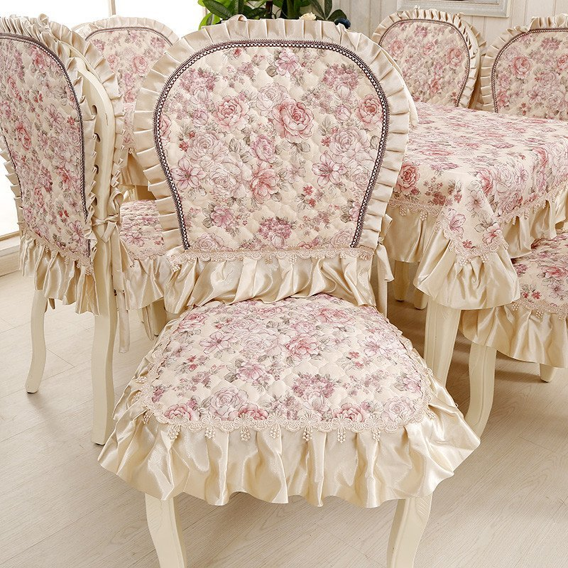 凡轩 欧式餐椅垫大坐垫餐椅套餐桌布布艺 椅套餐桌布圆桌布椅子套