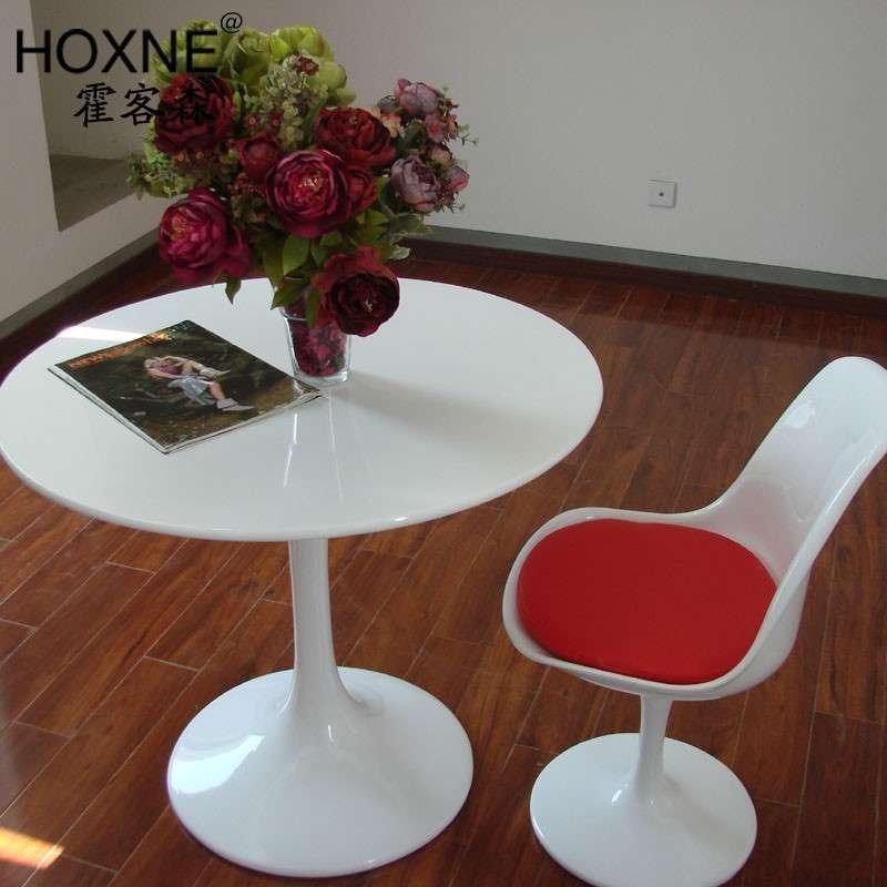 霍客森(hoxne) 洽谈桌 时尚简约餐桌 接待桌圆桌 郁金香餐桌子tulip