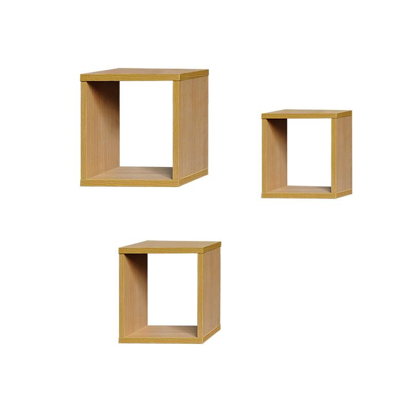 福立方置物架组合cd烤漆 格子架子 层架壁挂木架收纳架子
