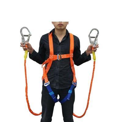 谋福 国标欧式安全带 电工五点式安全带高空作业全身安全带 可拆卸 双保险绳式安全带