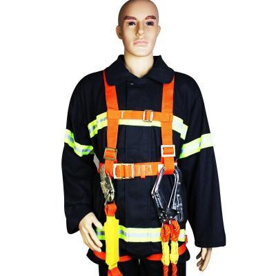 双保险电工安全带 工地高空保险带 全身?;ど踩鄹呖兆饕?全身超大钩带缓冲包安全带