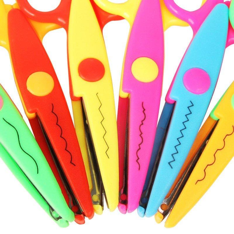 6把装儿童安全花边剪刀6寸装饰文具手工锯齿diy相册影