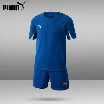 PUMA/彪馬足球服兒童套裝TEAMSPORT新款703106定制組隊服青少年透氣足球衣