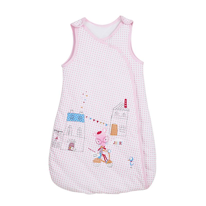 艾贝乐 婴儿背心睡袋纯棉宝宝成长型睡袋抱被春秋季儿童防踢被