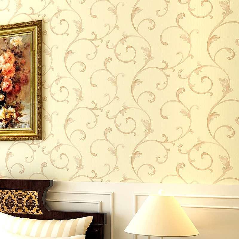 t纸尚美学无纺布简欧墙纸 欧式客厅电视背景墙 卧室温馨壁纸 特价
