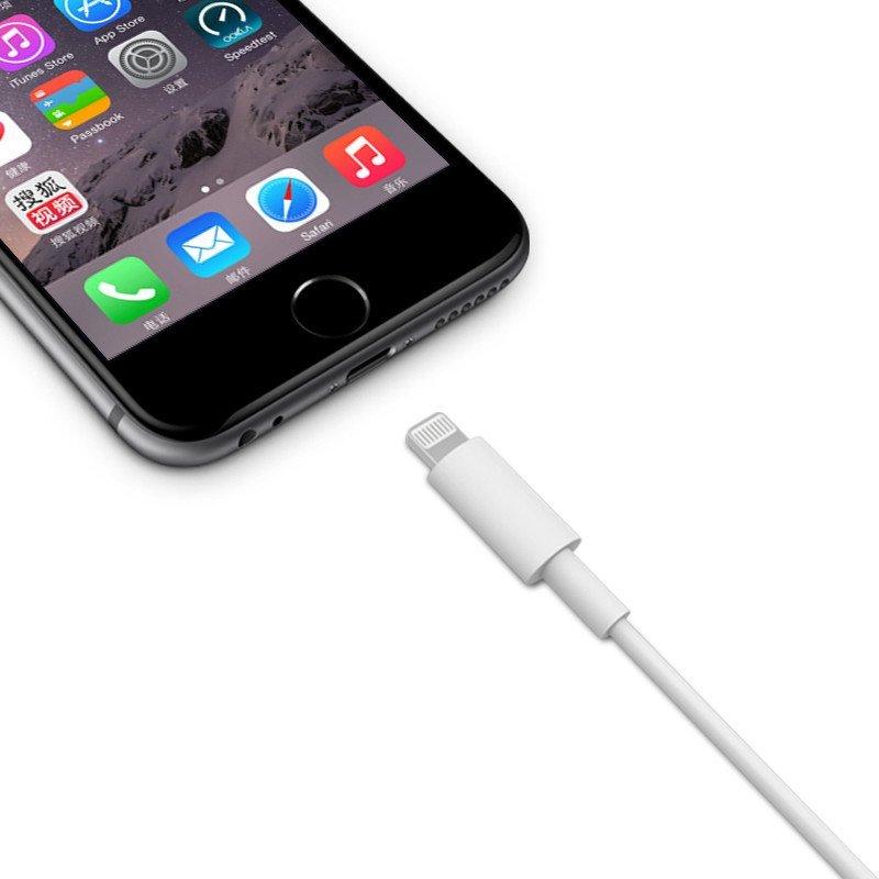 d-park mfi认证 苹果6数据线 手机充电线 1米 适用iphone6s/ipad 白