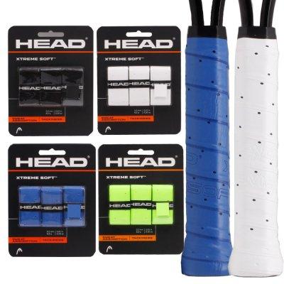 海德 HEAD透氣耐磨干性羽毛球網球手膠柄皮吸汗帶一卡三條裝