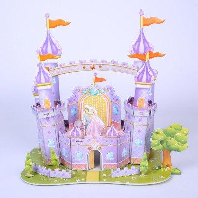 立体拼图 儿童仿真3d纸质模型 梦幻城堡 手工玩具 diy大四片 白雪公主