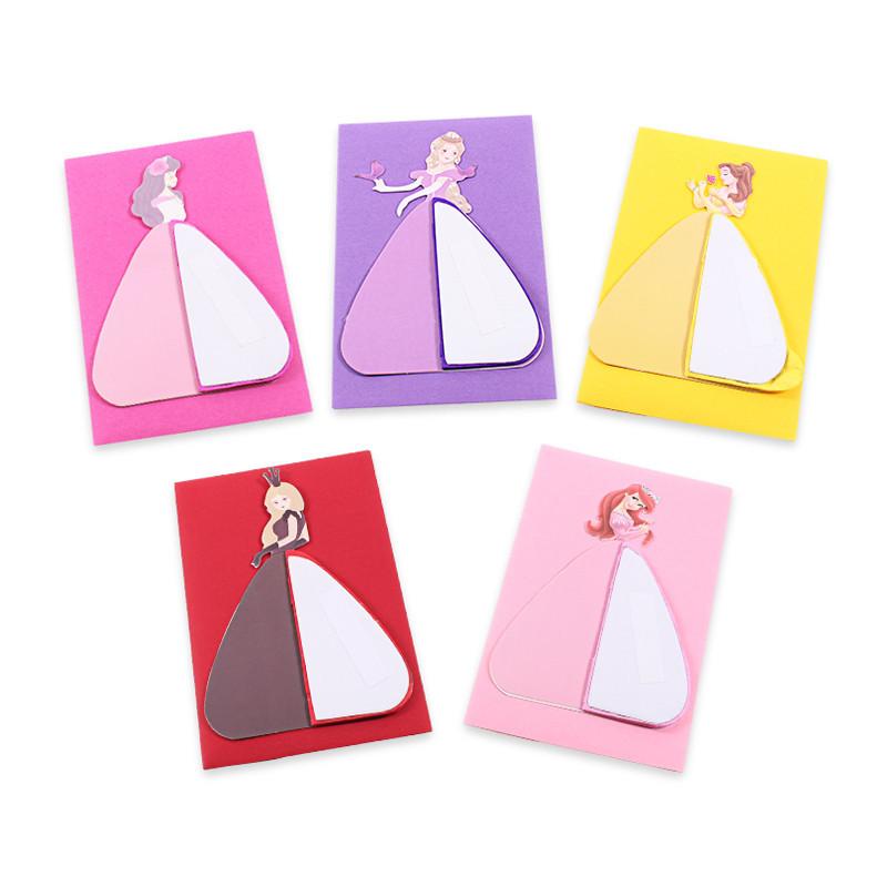 孩派 迪士尼小学生创意手工剪纸立体贺卡 六一儿童节礼物舞动公主卡片