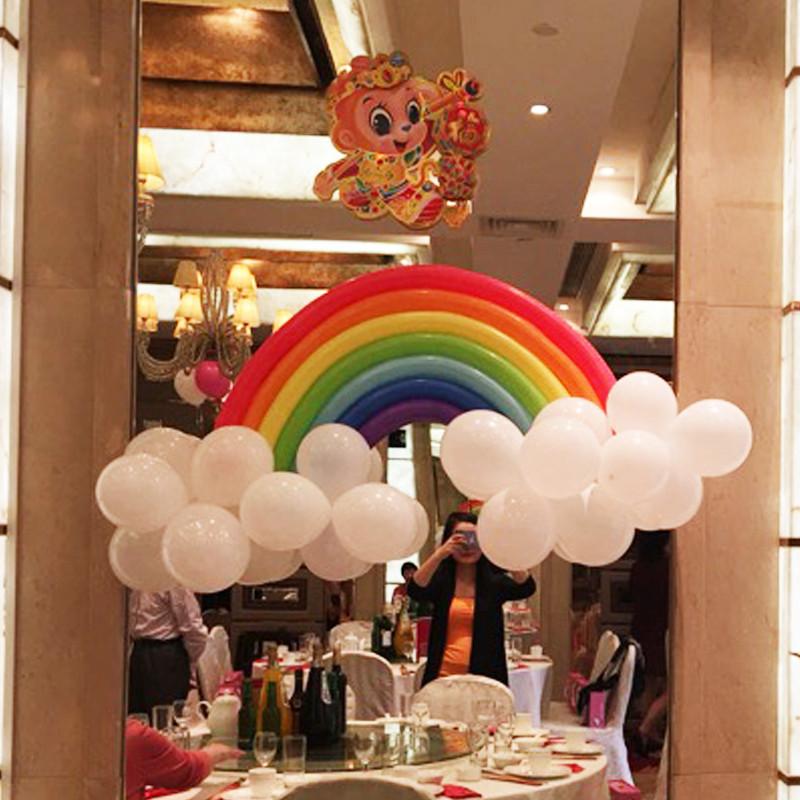 孩派生日派对装饰用品进口260长条魔术气球造型彩虹气球造型套餐图片