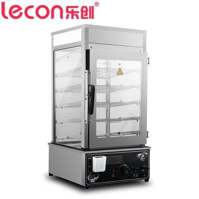 乐创电器旗舰店(lecon) LCZB-500 商用台式蒸包柜 不锈钢蒸包机蒸馒头柜子 普通加热蒸箱蒸柜 1200W