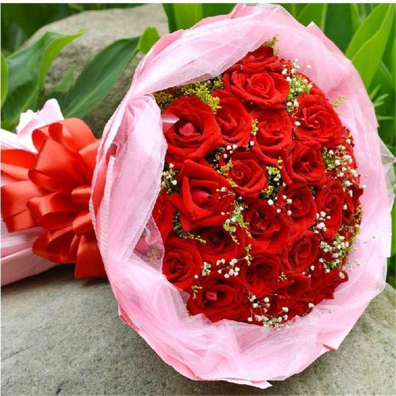 爱的印记 鲜花 33枝红玫瑰 可爱的你