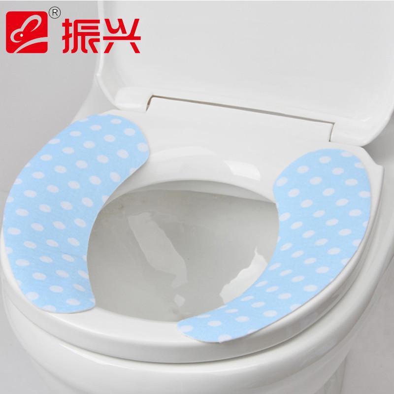 振兴fe7217 粘贴式清洁垫贴2片1对装 马桶垫坐便垫坐厕垫可反复使用