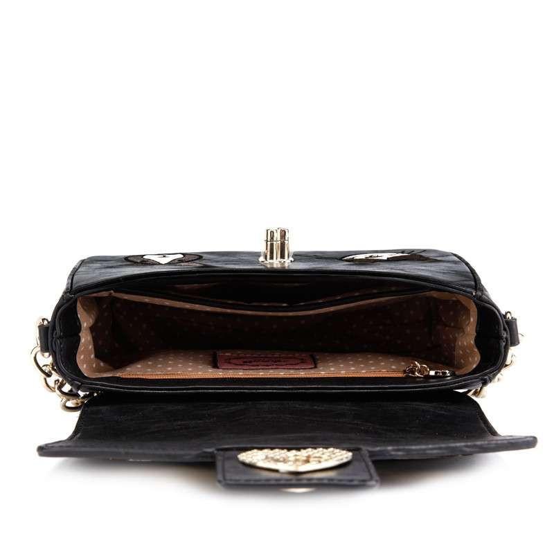 阿特密artmi新款 复古印花时尚翻盖甜美可爱链条女包包斜挎包apc0137