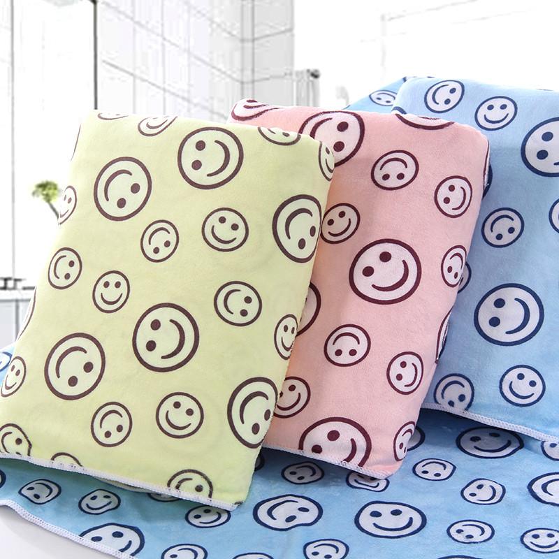 图强 超细纤维浴巾印花可爱卡通儿童成人柔软吸水家用