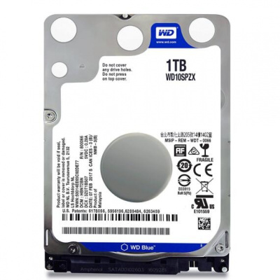 西部数据(WD) WD10SPZX 蓝盘5400转128M 1tb笔记本机械硬盘1t