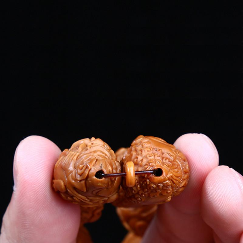 橄榄核雕刻新一念之间手串 一念之差 橄榄胡魔由心生手串手链