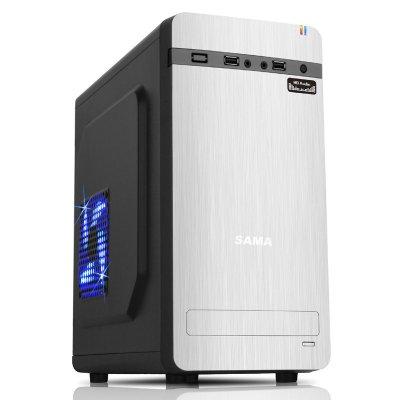 先馬(SAMA) 夢想家1 (MINI/USB2.0/HDAudio/背線)銀色 電腦機箱 MINI機箱