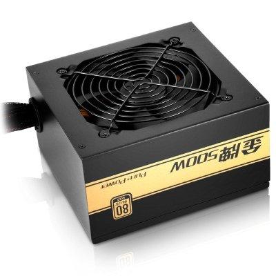 先馬(SAMA)金牌500 額定功率500W (全電壓/LLC諧振電路/固態電容)ATX電源 臺式機電腦電源