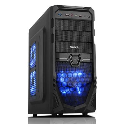 先马(SAMA) 破坏神5 游戏机箱(前置U3/支持背线/SSD/铁网面板) 破5 单机箱 黑色 电脑机箱 中塔机箱