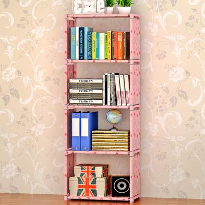 索尔诺简易书架加固书柜现代简约桌上书架置物架自由组合储物柜层架 sj05